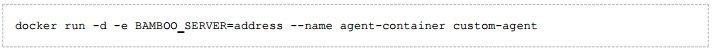 The custom-agent image can be run with this command