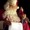Santa looking at list