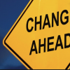 Sign: Change ahead