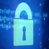 Image of lock over code